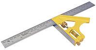 """Угольник слесарный 12""""/300мм комбинированый литое основание металическое  STANLEY 2-46-028"""