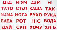 """Карточки большие украинские """"Чтение с Доманом"""""""