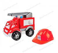 """Детская пожарная машина с каской """"Малыш пожарник"""""""