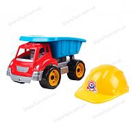 """Детский игрушечный самосвал с каской """"Малыш-строитель"""""""