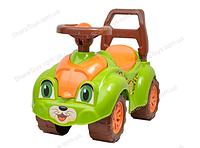Детский автомобиль для прогулок (толокар), леопард, салатовый