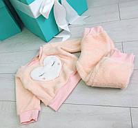 """Детский домашний махровый костюм """"Сердце"""" 4021 / нежно-розовый"""