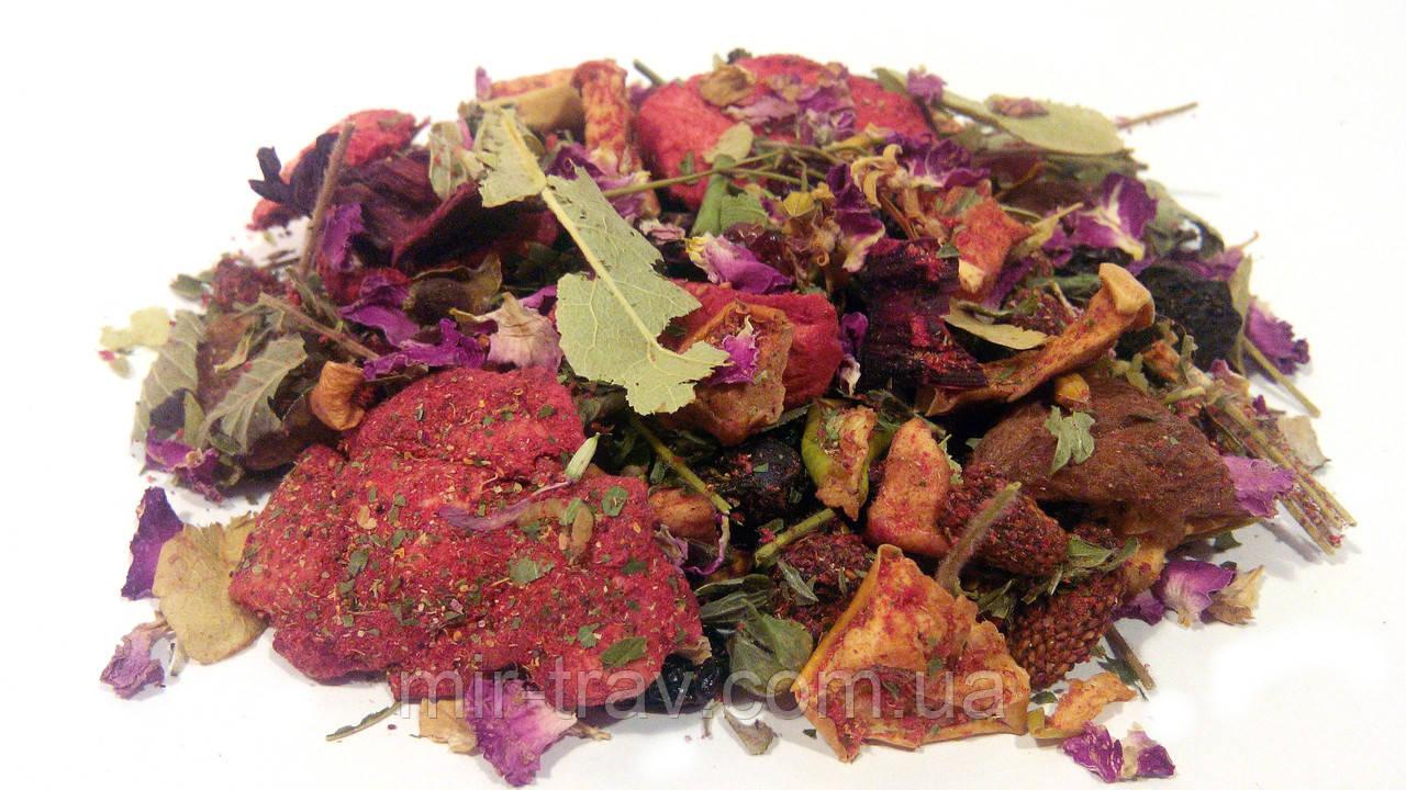 Фруктовый чай клубника (фруктовый витаминный травяной сбор)