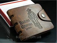 Мужской кошелек бумажник Bailini с ковбоем с вырезами Коричневый