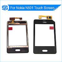 Сенсор (Touch screen) Nokia 501 Asha черный оригинал