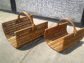 Набор плетеных корзин из лозы для камина из 2шт. Арт.200-2, фото 3