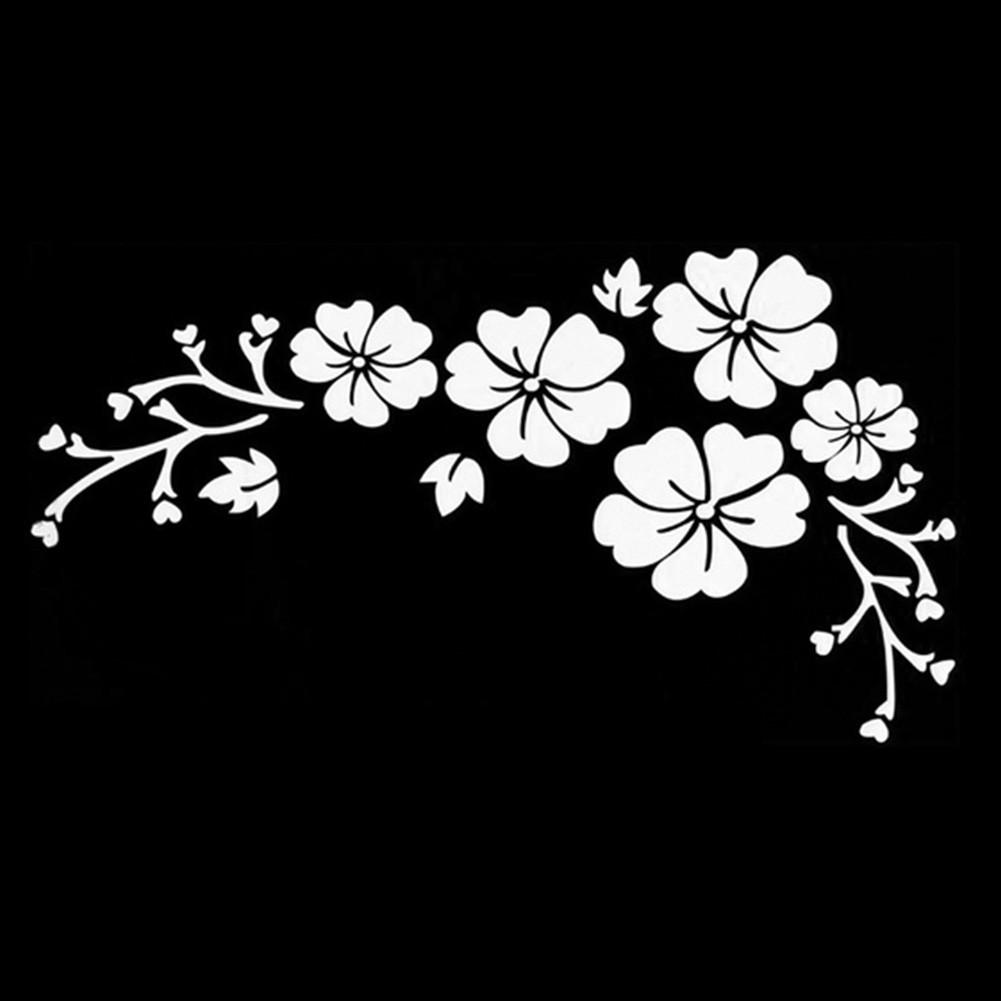 Наклейки на автомобиль - цветы белые