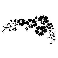 Наклейки на автомобиль - цветы черные, фото 1