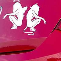 Наклейки на автомобиль - Сексуальные Девушки - белые