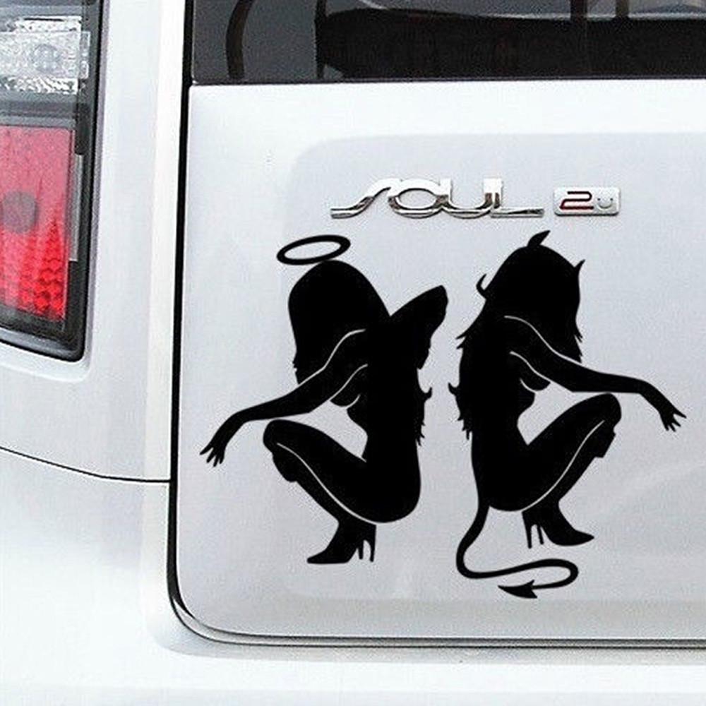 Наклейки на автомобиль - Сексуальные Девушки - черные