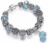 Женский браслет в стиле Пандора PANDORA Blue Stone