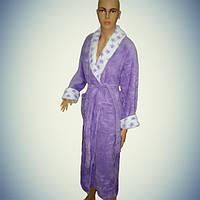 Женский халат с воротником - длинный - софт - Турция        pr-hj087
