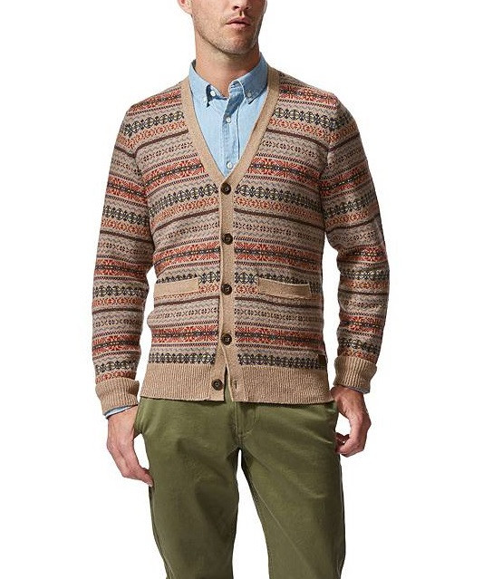 Мужской шерстяной кардиган Dockers - Hickory Heather