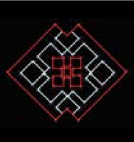 Светодиодная конструкция Орнамент LUMIERE  0,75*0,52м
