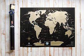 Скретч карта мира My Map Black edition ENG в тубусе