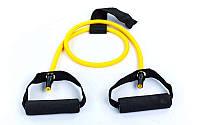 Еспандер трубчастий з ручками і фіксатором в двері FI-2659-Y 4LB жовтий