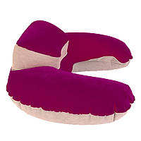 Подголовник подушка Travel Pillow dark pink (темно-розовый)