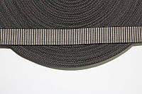 ТЖ 20мм репс (50м) черный+св.бежевый , фото 1