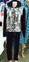 Женский велюровый костюм  0017
