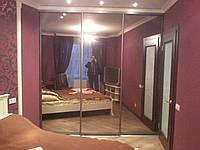 Шкаф-купе 3 двери зеркало серебро на заказ