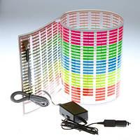 Эквалайзер на стекло. 80 х 19 см —многоцветный