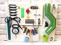 """Развивающая доска для детей """"Busy Board"""", по методики Монтессори, размер 50х40, материал ДСПламинированное"""