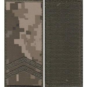 """Погон """"Младший сержант"""" камуфляжный (пиксель) на липучке, фото 2"""