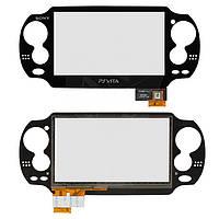 Touchscreen (сенсорный экран) для игровой приставки Sony PSP 1000 Vita, оригинал (черный)