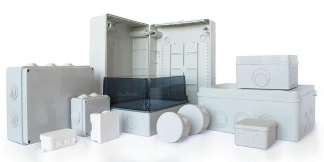 Короба для проводки, распределительные, монтажные коробки