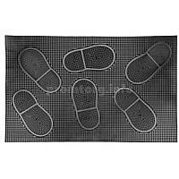"""Коврик резиновый грязезащитный придверный """"Следы маленькие"""", размер 38х58см (5мм, вес 1.0кг)"""