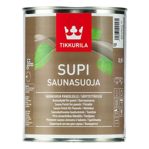 Захисний склад для захисту стін і стель в сауні Tikkurila Супі Саунасуоя Supi Saunasuoja 0.9л