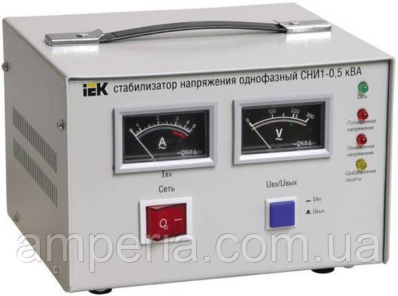 IEK Стабилизатор напряжения СНИ1- 2 кВА электромеханический однофазный (IVS10-1-02000), фото 2