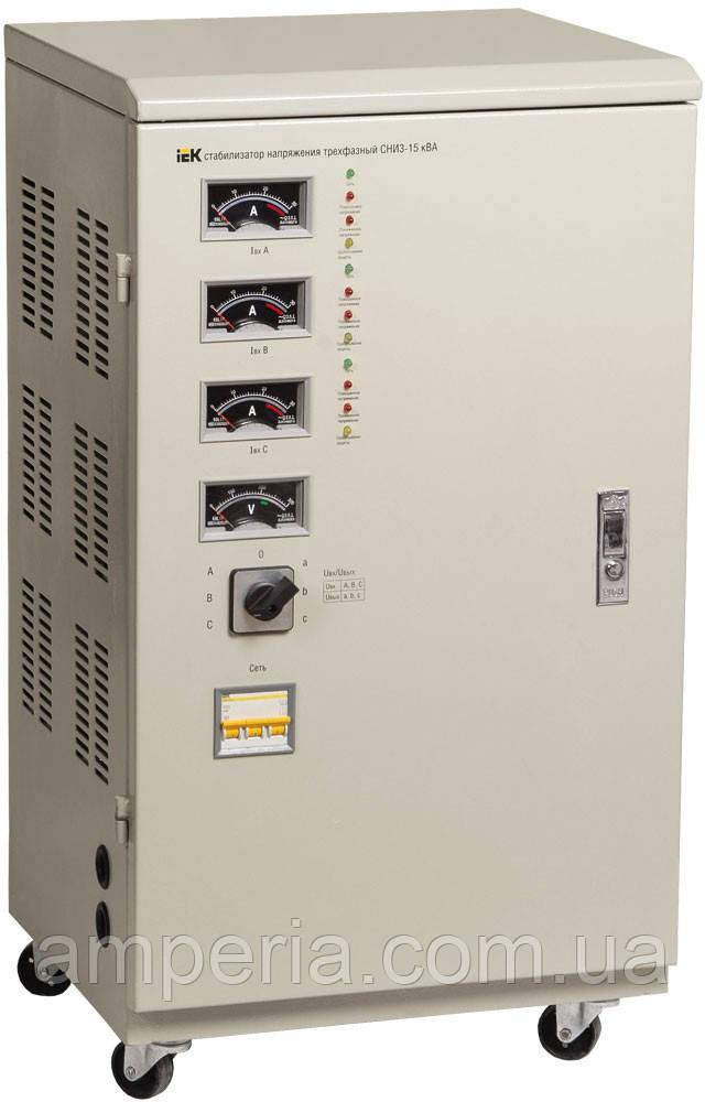 IEK Стабилизатор напряжения СНИ3- 3 кВА электромеханический трехфазный (IVS10-3-03000)