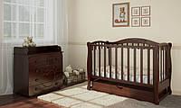 Детская кроватка Prestige 5 с комодом-пеленатором Prestige 6 мишкой