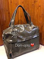 Женская кожаная сумочка Snap хаки