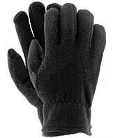 Перчатки флисовые зимние, черные