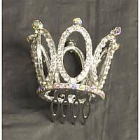 Заколка Корона со стразами (Серебро) 171216-001