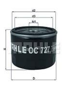 Фильтр масляный OC727 MAHLE