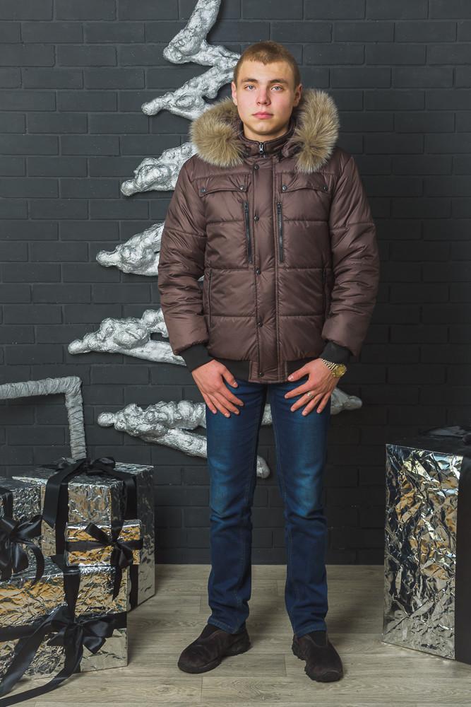 Мужская куртка зимняя с молниями
