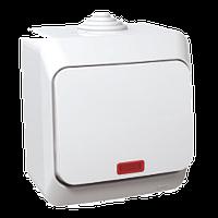 SHNEIDER ELECTRIC CEDAR PLUS IP 44 Выключатель одноклавишный с подсветкой Белый