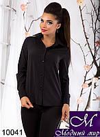 Классическая женская черная блуза (р.S, M, L) арт. 10041