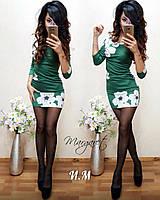 Женское стильное платье с цветочным принтом, фото 1