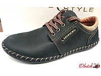 Мокасины-туфли подростковые на шнуровке кожаные Uk0298 36