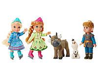 Детский игровой набор Холодное сердце - Куклы-малышки Анна Эльза и Кристофф