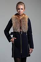 Эксклюзивное зимнее пальто 2017 (рр 42-50) с натуральным мехом, разные цвета