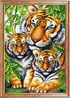 Рисунок на ткани Тигрица с тигрятами МК КС-097