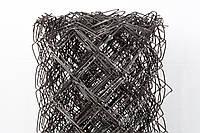 Сетка рабица черная. Ячейка: 40х40мм, Проволока: 1,5мм., Высота: 1,8м.