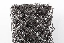 Сетка рабица черная. Ячейка: 30х30мм, Проволока: 1,6мм., Высота: 1м.
