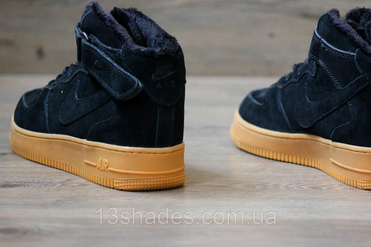 5a7966af ... Кроссовки мужские зимние Nike Air Force High Winter ( Найк Аир )  чёрный, ...