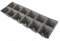 Кассета торфяных горшков RichLand,12 ячеек. Размер 5*5 см, квадратная. Производитель Jiffy, Дания.